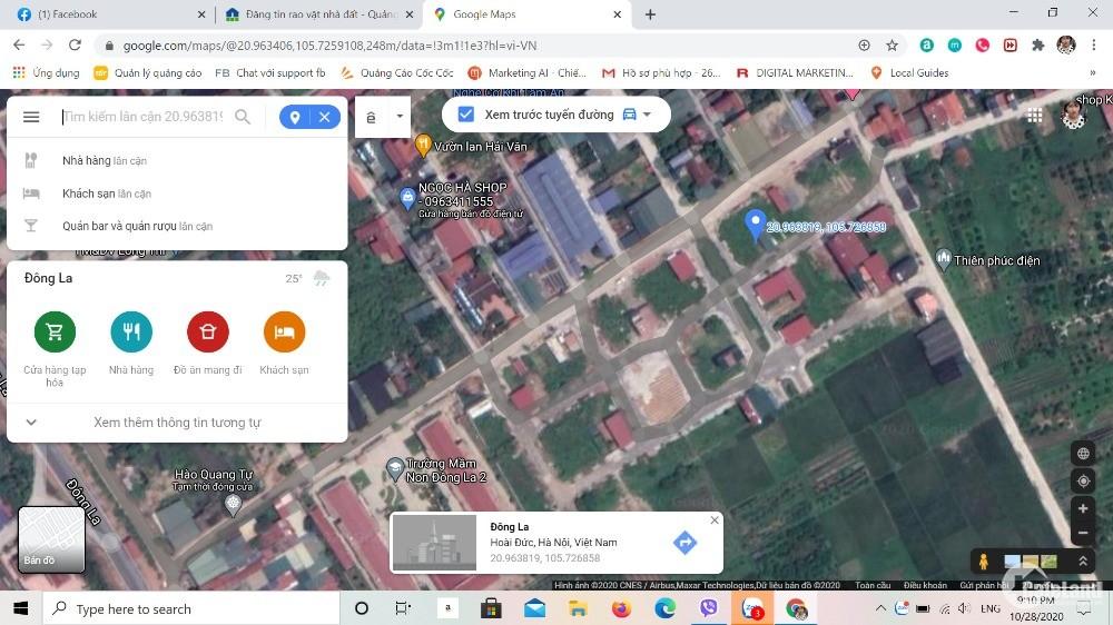 Chính chủ Bán Lô đất đấu giá X01-07 Đông La- Hoài Đức- Hà Nội. L/h: 090 4994 868