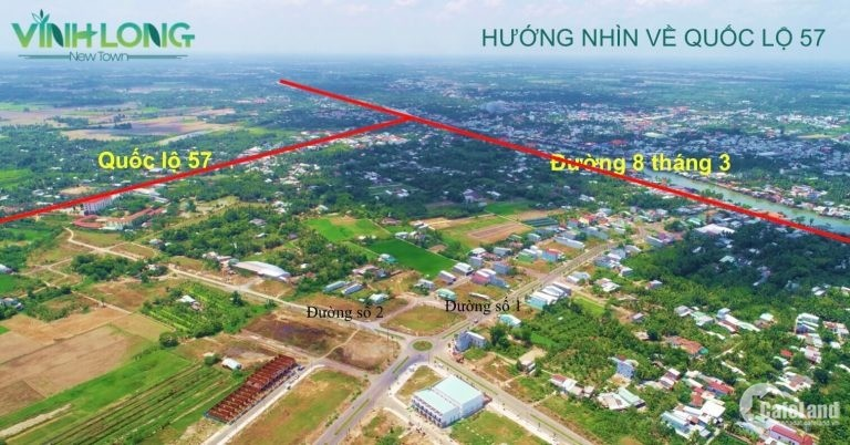 Cơ hội sở hữu đất nền p5, TP Vĩnh Long, giá chỉ từ 7tr/m2, tt 100% nhận sổ ngay