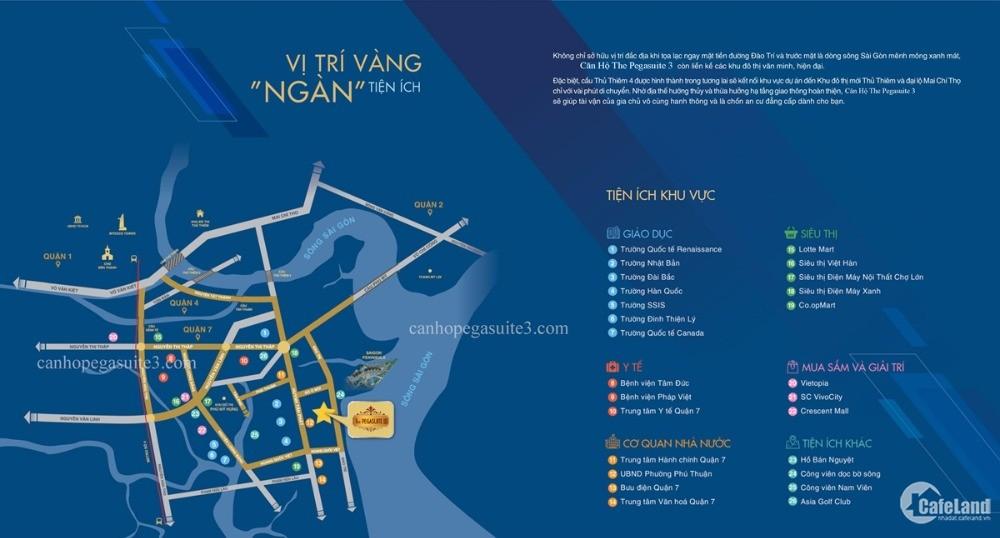 Căn Hộ Pegasuite 3 Mặt Tiền Đường Đào Trí View Sông Sài Gòn Quận 7