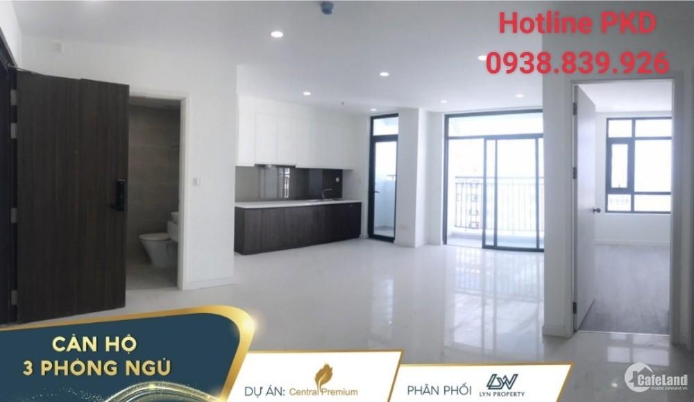 Central Premium 3PN 87m2 4,3 tỷ tầng 25 Đông Nam view, nhận nhà ở ngay 093883992