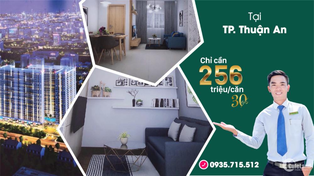 Mở bán căn hộ cao cấp 29 tầng tại TP Thuận An trả trước 168tr