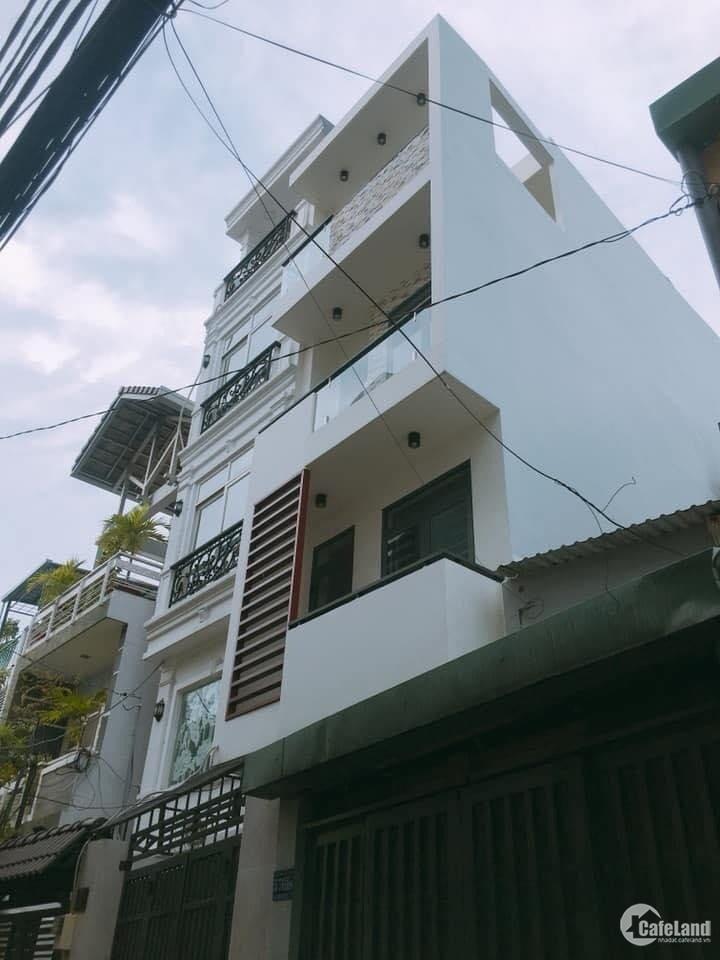 Bán nhà Lê Quang Định, hẻm xe tải quay đầu , 100m2 , 4 tầng lung linh , giá 11 t