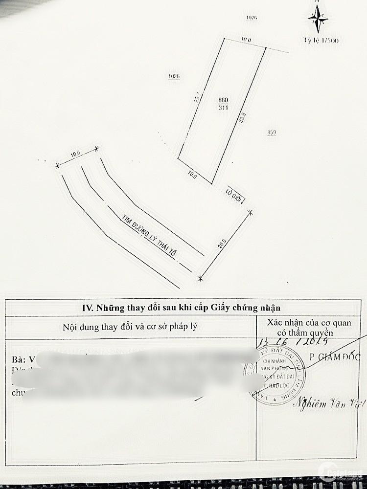 Chính chủ bán 311m2 đất đầu tư nghỉ dướng, Tp Bảo Lộc, Lâm Đồng.