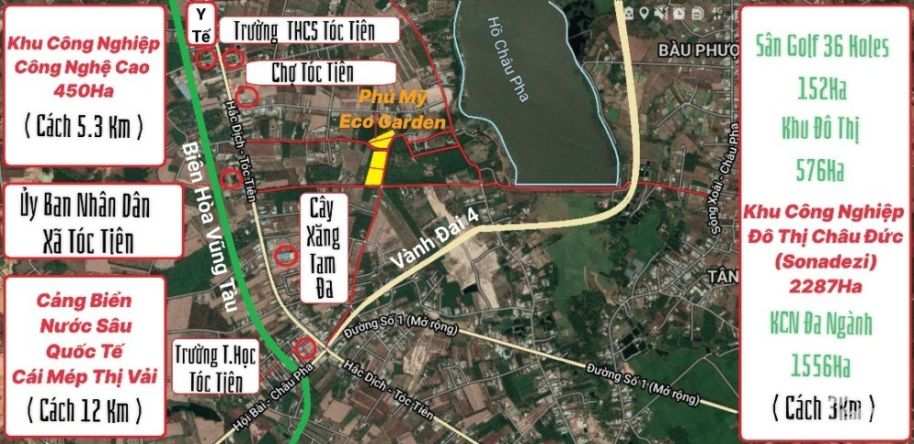 Tiềm Năng Tăng Gía Vượt Trội - TP Cảng Biển Phú Mỹ Duy Nhất Đông Nam Bộ. Gía Chỉ