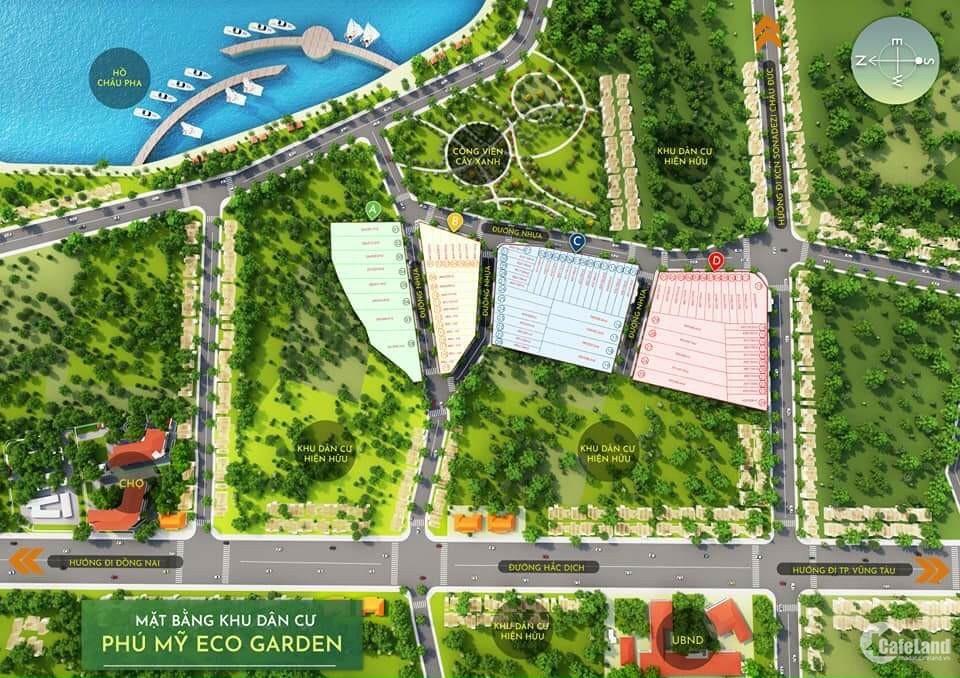 Giai Đoạn F0. Phú Mỹ Eco Garden. Khu Đô Thị Ngay TT TP Cảng Duy Nhất Đông Nam Bộ