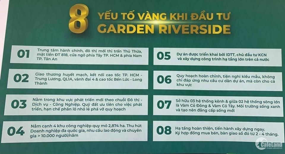 MB 39 nền và 6 lô góc tại KĐT Ven Sông Garden Riverside, Sổ hồng riêng, Giá F0