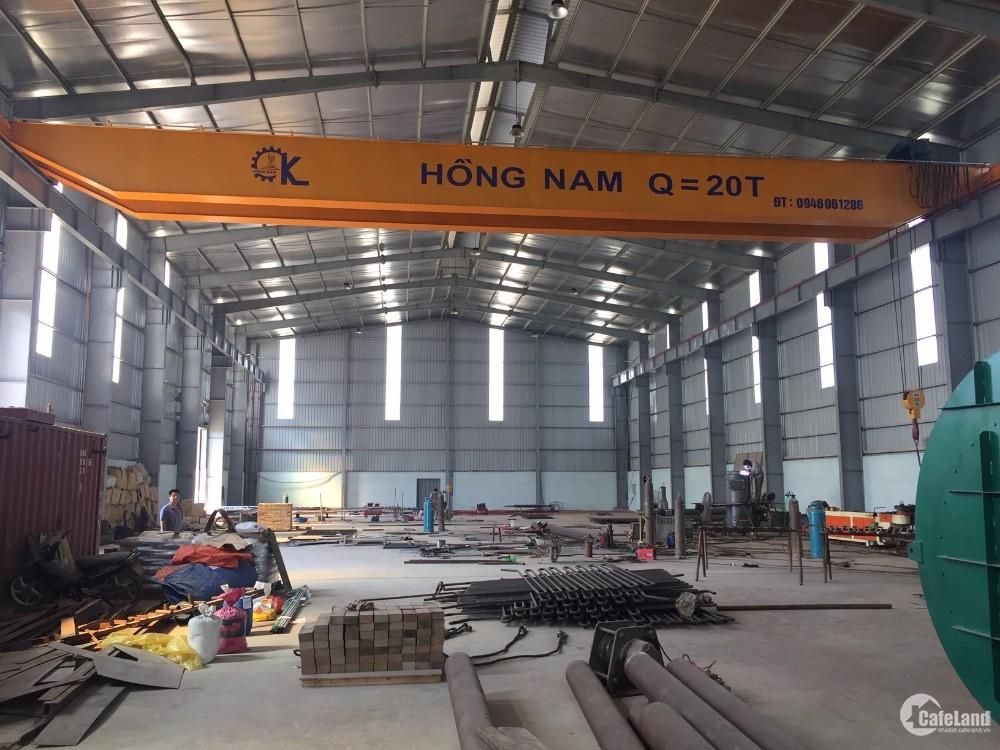 Cho thuê kho xưởng DT 4500m2 KCN Thanh Oai Hà Nội.