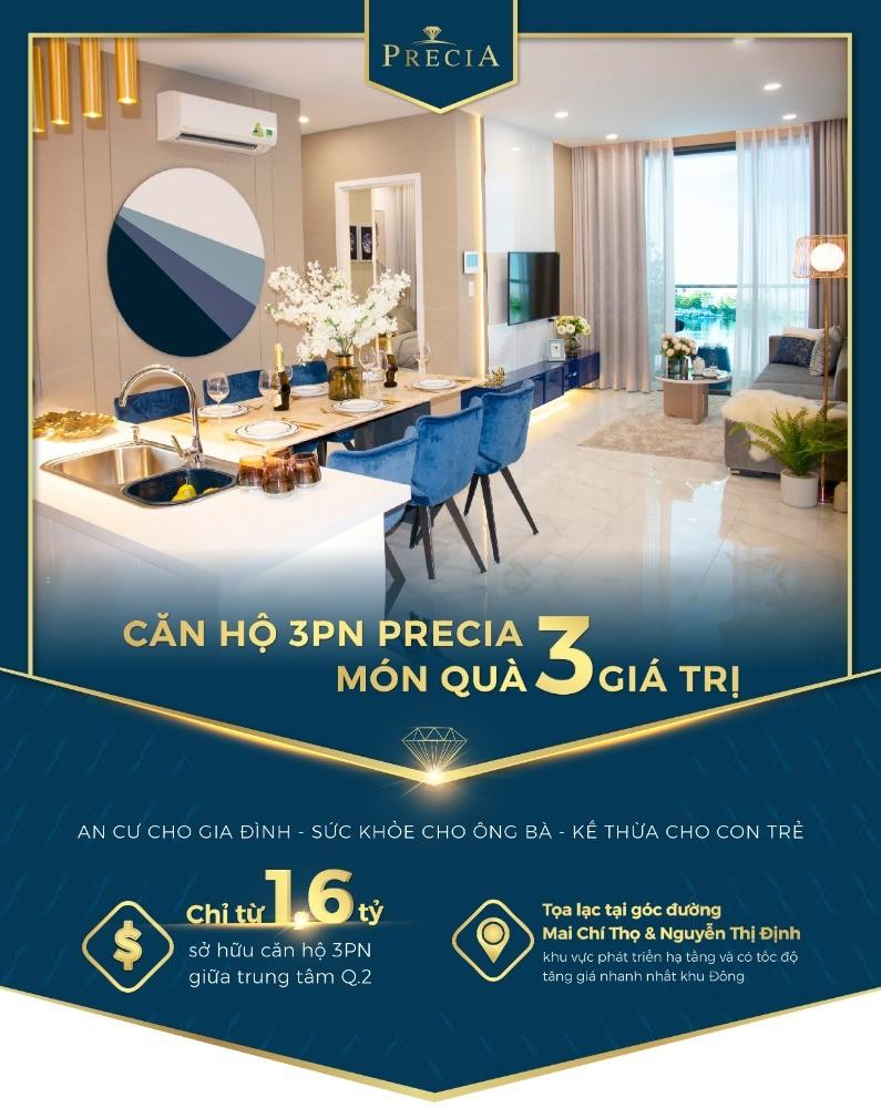 Tuần lễ vàng MINI EVENT PRECIA, mua căn hộ Quận 2 có quà tặng đến 240tr + ck 2%