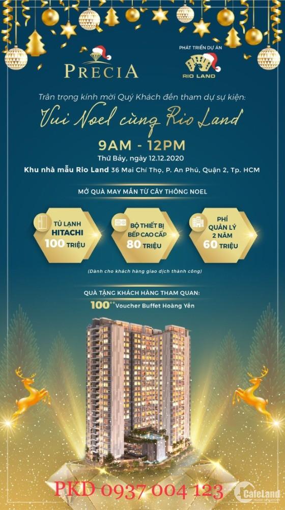 Gói quà tặng đến 240tr cho 20 khách hàng sở hữu căn hộ tại Q2 giá từ 54tr/m2
