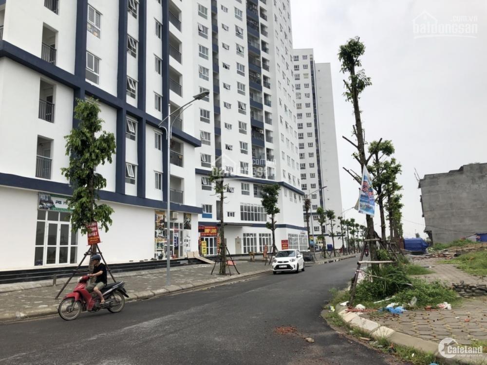 Đất nền liền kề khu B1.2 dự án Thanh Hà. Nhìn chung cư sắp xây dựng.