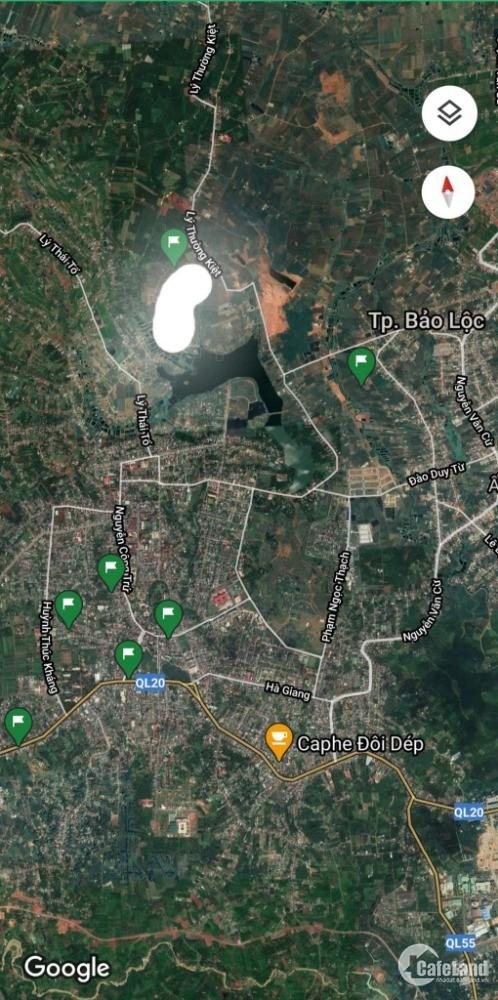 bán đất đường Lý Thường Kiệt - hồ Nam Phương,Lộc Phát, đường nhựa 8m