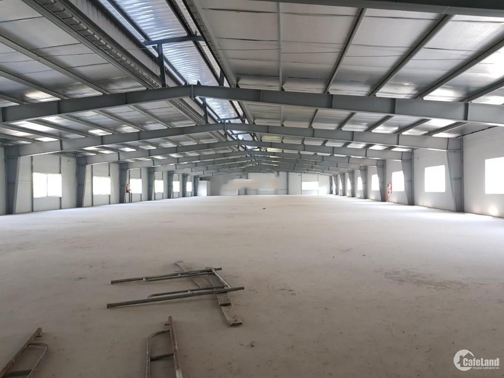 Cho thuê toàn bộ nhà máy 5000m2 XD Xưởng 3600m2 KCN Phú Nghĩa.