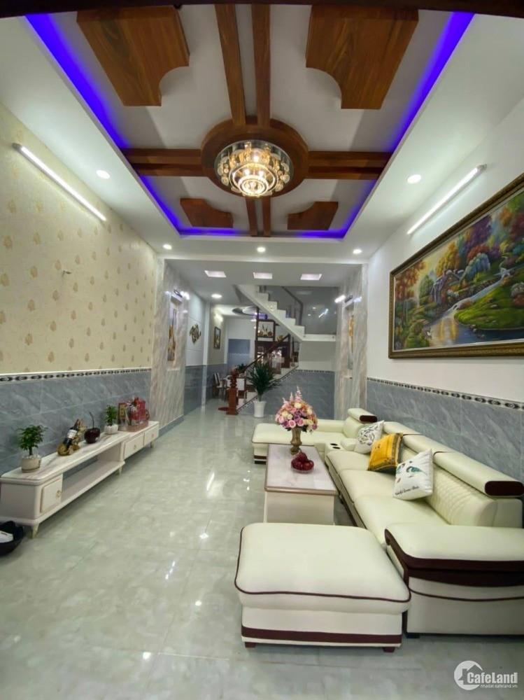 Nhà mặt tiền-kinh doanh 4x16 -4 tầng đường xe hơi Nguyễn Tư Giản, Gò Vấp
