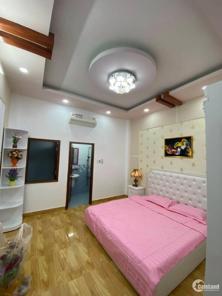 Nhà mới đón tết 4mx16m - 4 tầng đúc đường xe hơi thông Nguyễn Tư Giản, Gò Vấp