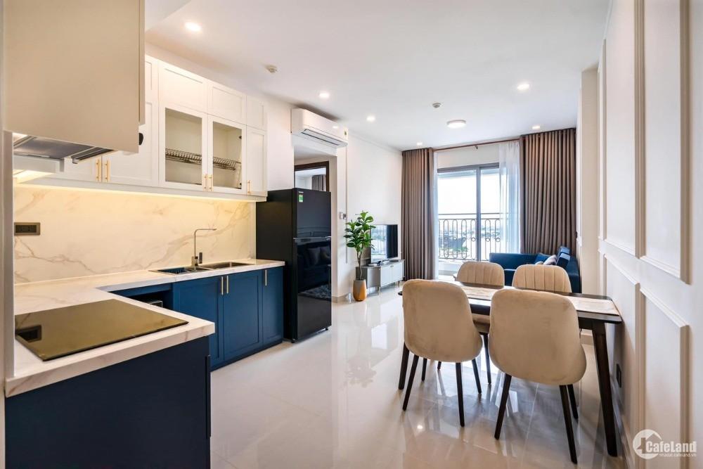 Cần cho thuê gấp chung cư Saigon Royal quận 4, 2pn 2wc, đầu tháng 3 ở