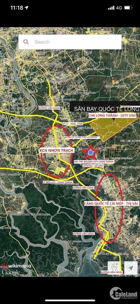 Mua đất sân bay Long thành Chỉ 14 triệu/ m2, Tặng vàng, Chiết khấu 7%.