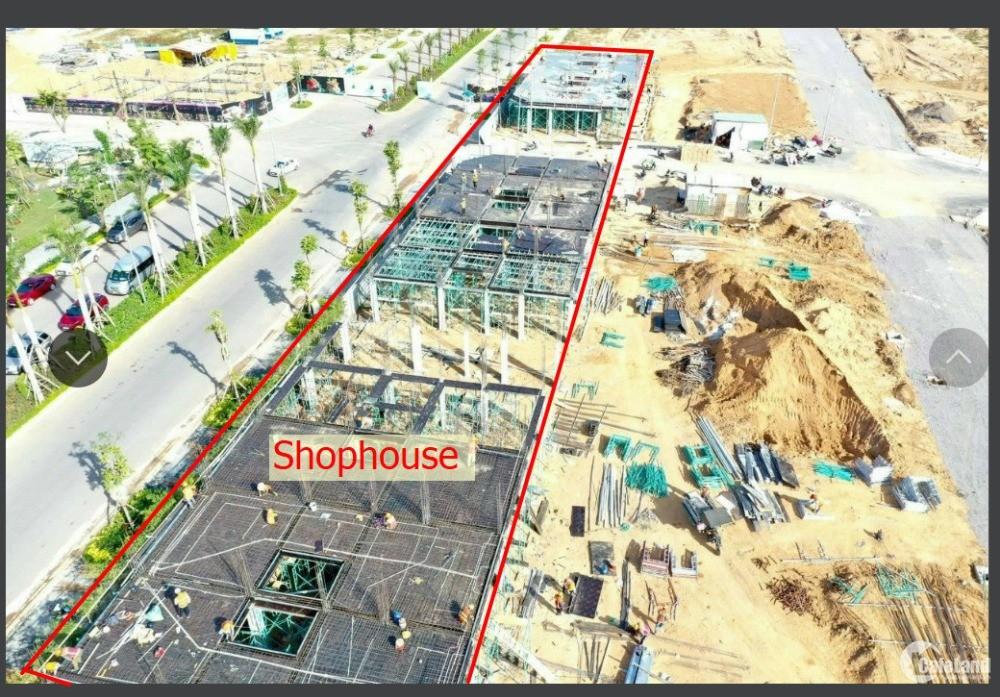 cần bán gấp 1 lô đất tt trước 600tr và 1 căn Shophouse DT6x20 1tret 3lầu Đông
