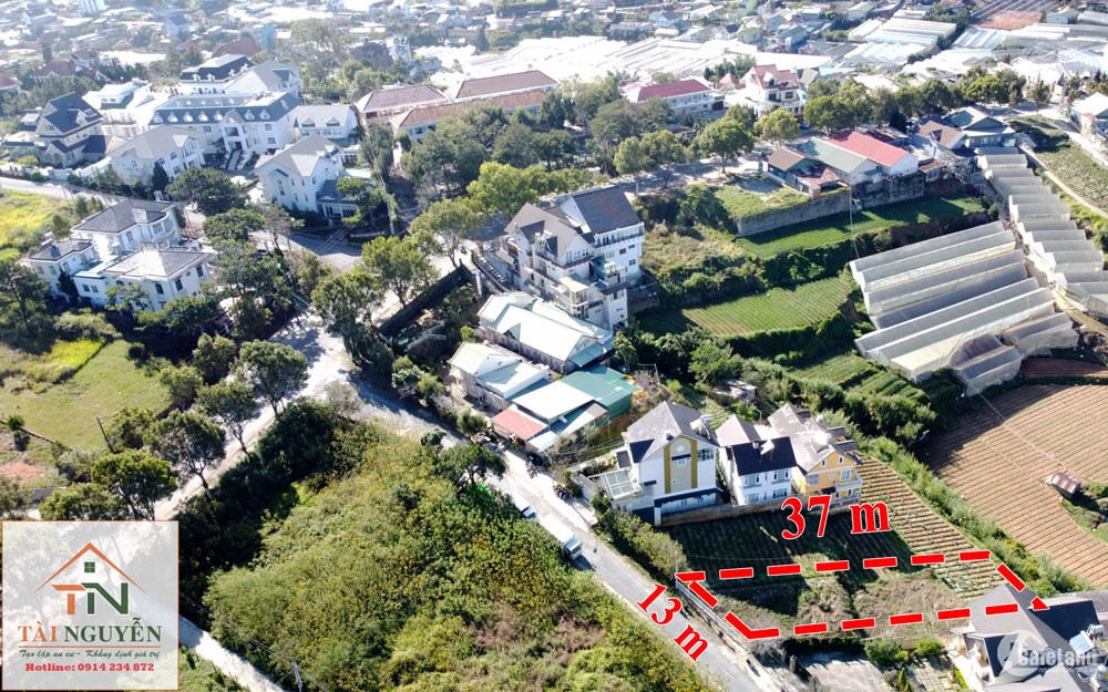 Bán nhanh lô đất 453 m2, FULL thổ cư mặt tiền đường Trần Quang Khải,P.8, Đà Lạt