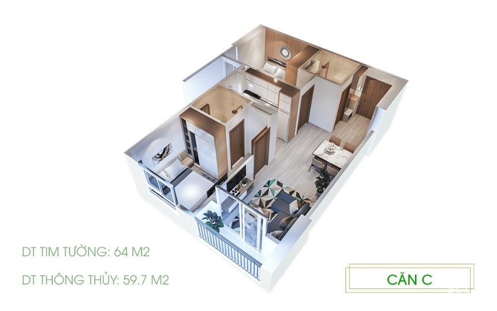 San lại căn hộ 1PN rưỡi diện tích 42m2 với giá chủ đầu tư