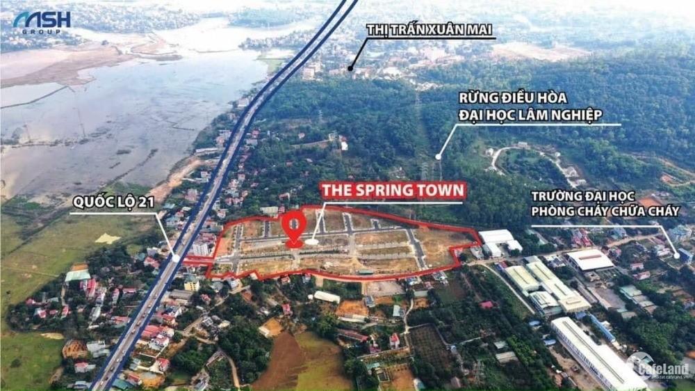 Đất nền Biệt thự Ngay trung tâm Thị trấn Xuân Mặt Tiền QL21  lh 0835652111