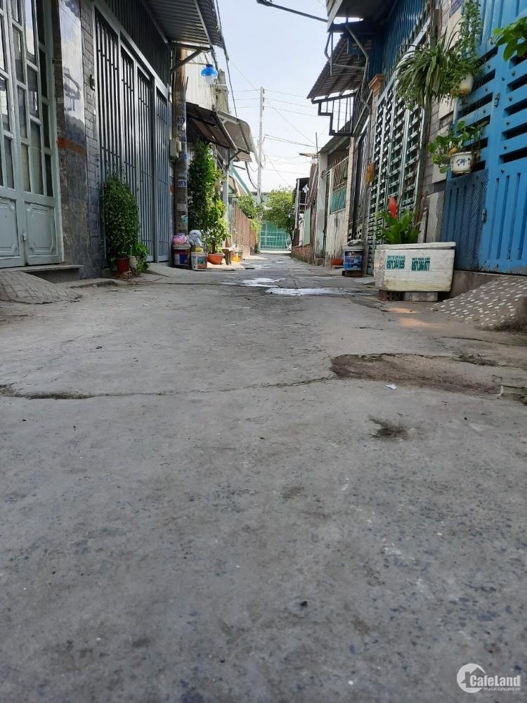 Bán nhà đường Bùi Văn Ngữ, P Tân Thới Hiệp, Q12, DT 32m2, 1 T, 1L, giá TT 685tr.