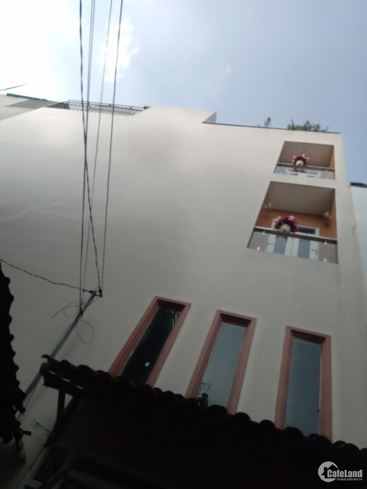 Bán căn nhà phố đúc 1 trệt 4 lầu diện tích 250m2 ngay đường lê văn thọ, Gò Vấp.