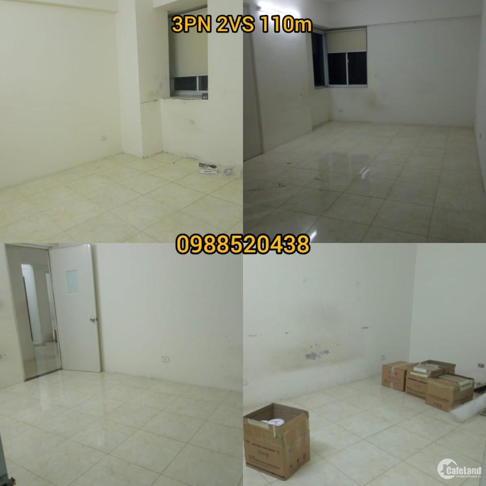 Cho thuê chung cư 52 Lĩnh Nam 3PN 110m 8 triệu/tháng để ở và làm văn phòng