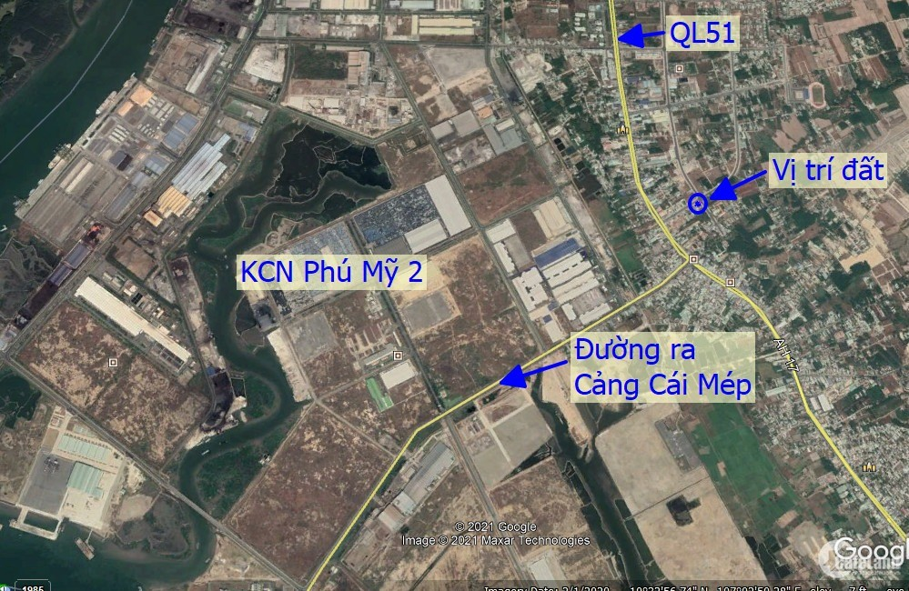 Cần tiền bán gấp đất 2 mặt tiền Vip nhất thị Xã Phú Mỹ Bà Rịa