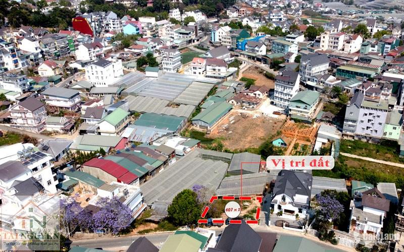 Bán lô đất biệt lập 407 m2, mặt tiền 17m đường Trần Khánh Dư, P.8, Đà Lạt, giá