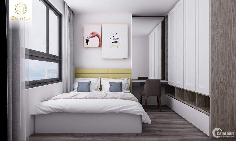 Bán căn hộ Charm Plaza tầng 15, 92.6m2, 3PN đủ nội thất giá chỉ 23tr/m2 ở luôn