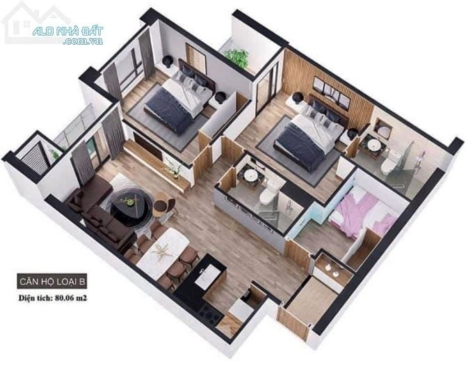 Căn hộ chung cư nhà ở xã hội Hòa Khánh - Liên Chiểu.