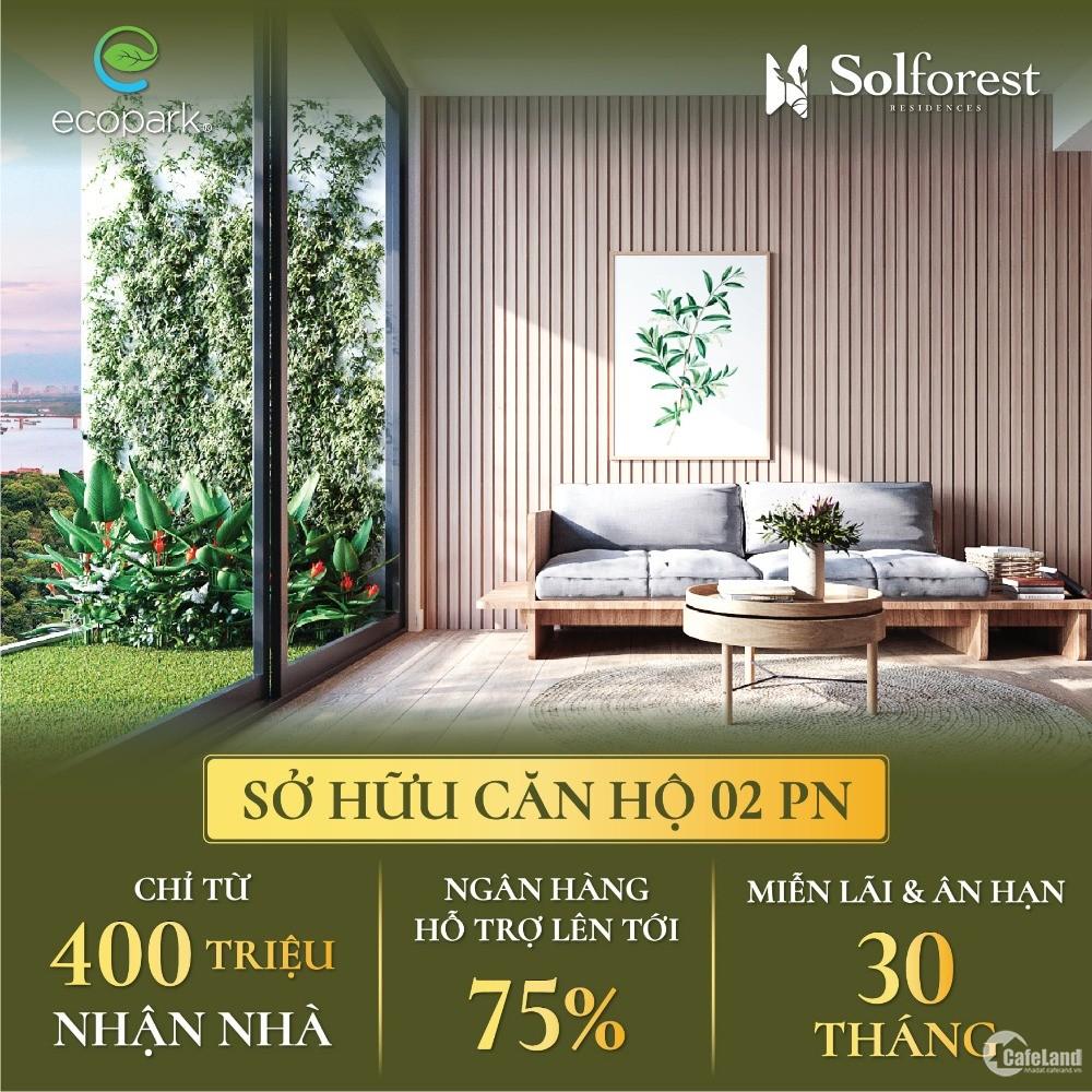 Mở bán Block cuối cùng dự án căn hộ cao cấp Solforest ngay tại trung tâm Ecopark
