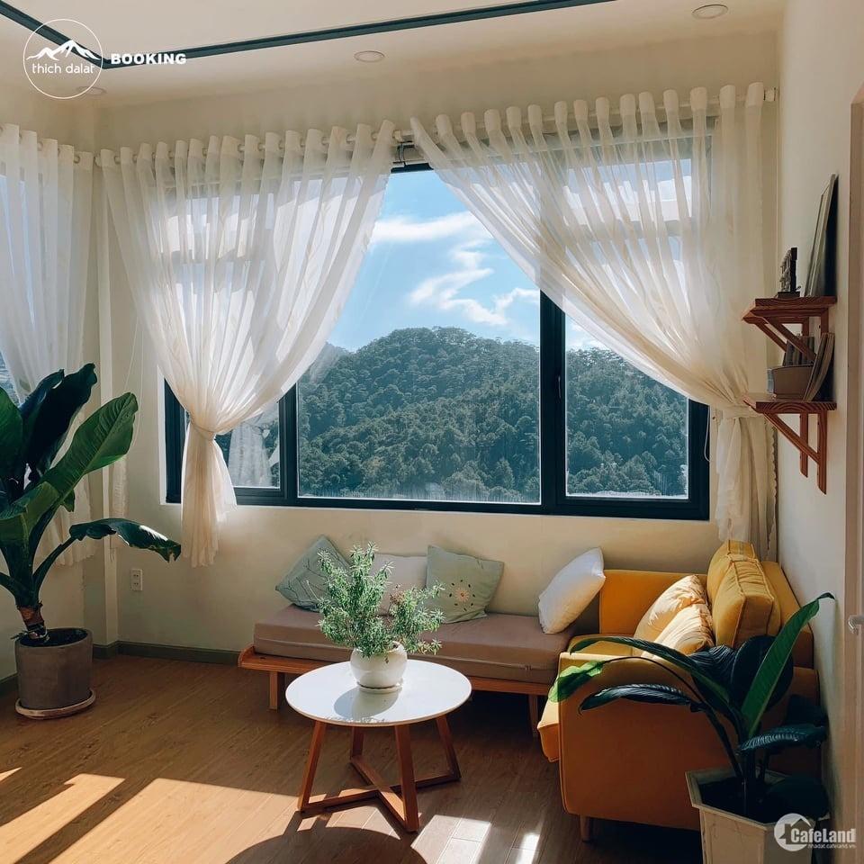Bán biệt thự nghỉ dưỡng view rừng thông xanh, gần trung tâm đà lạt, đường hoàng