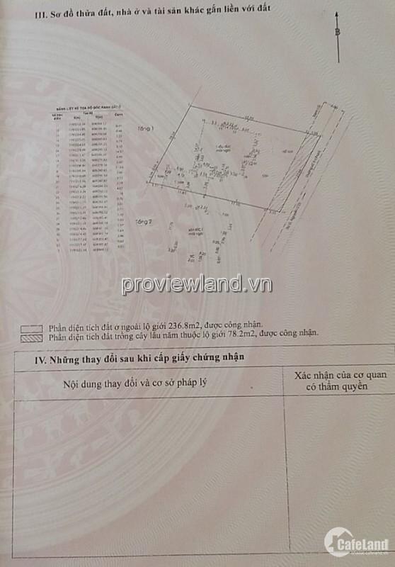 Bán biệt thự Thảo Điền, Q2, diện tích 828m2, 2 lầu, sổ hồng