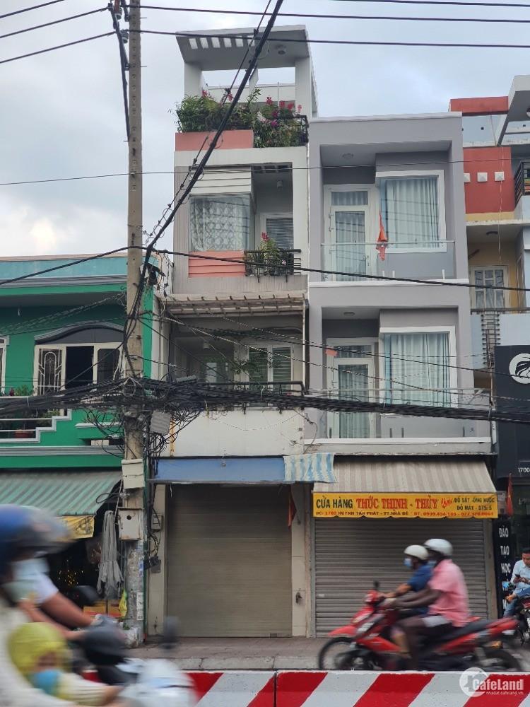 Bán nhà mặt tiền Huỳnh Tấn Phát, 2.8m x 13m, gần chợ Phú Xuân, 2 lầu 1 thượng