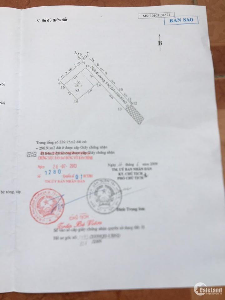Nhà Võ Chí Công: Diện tích 121m, MT: 9M, ô tô, lô góc, cách Hồ Tây 0,5m. 16 tỷ