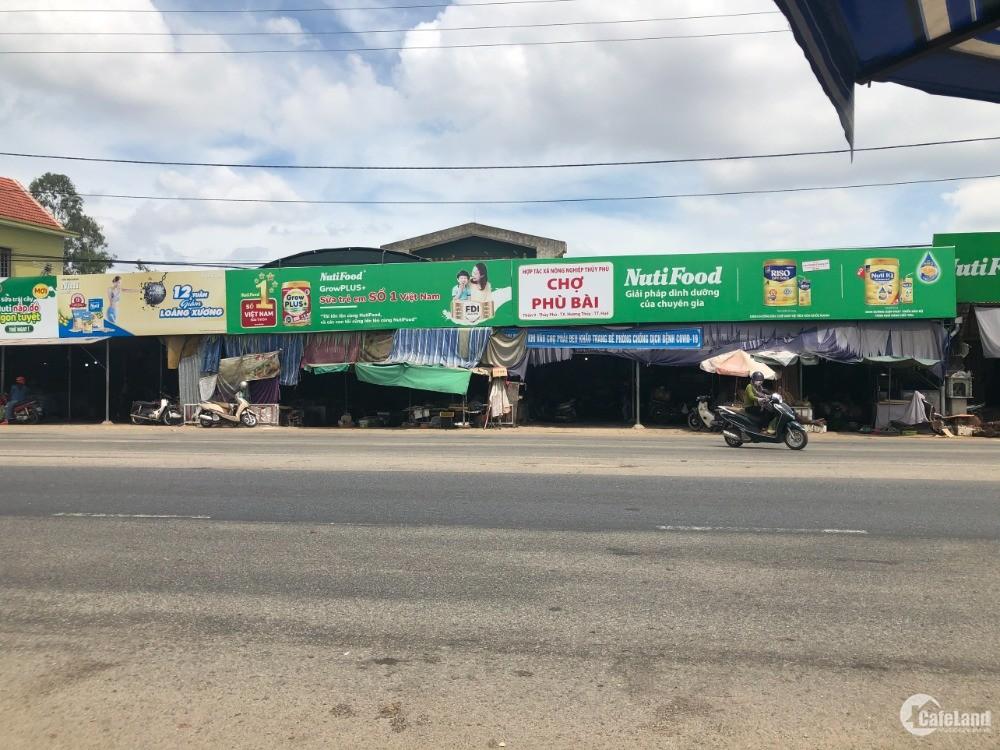 Nhà bán mặt tiền QL1A cạnh chợ Phù Bài