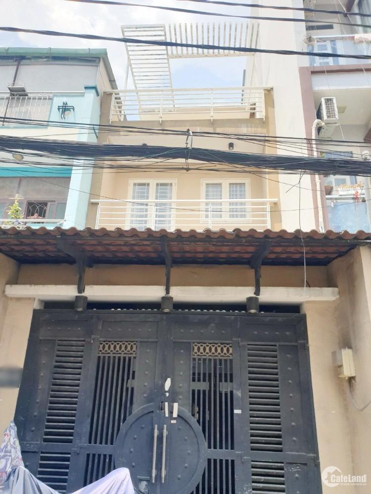 Nhà nở hậu (lửng/lầu/3pn) hẻm Chợ Nguyễn Thị Tần thông Dương Bá Trạc P2 Q8