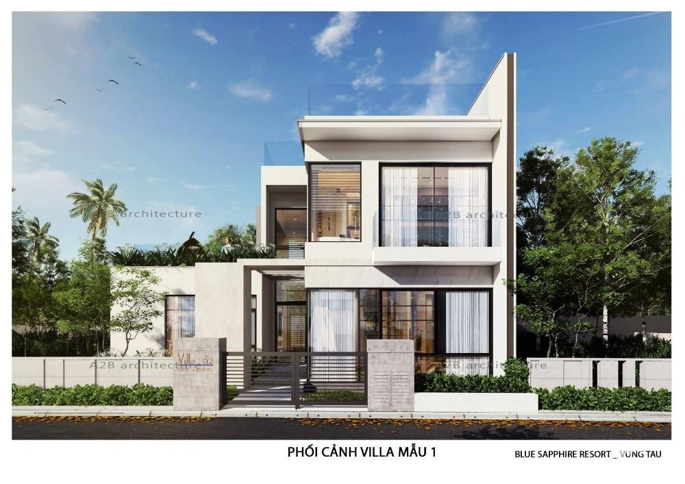 Còn 7 căn Biệt Thự Aria Rubby & Sapphire 480m2-570m2 nằm cách biển 50m
