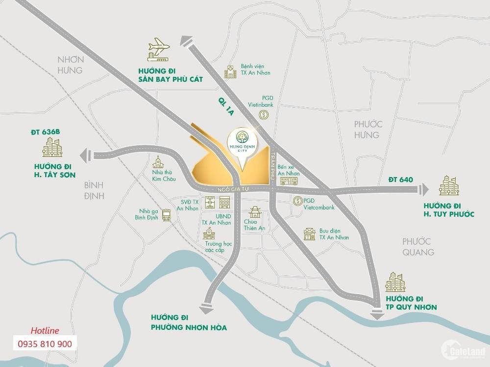 Khu Phố Chợ An Nhơn - Chợ mới Bình Định - Hưng Định City