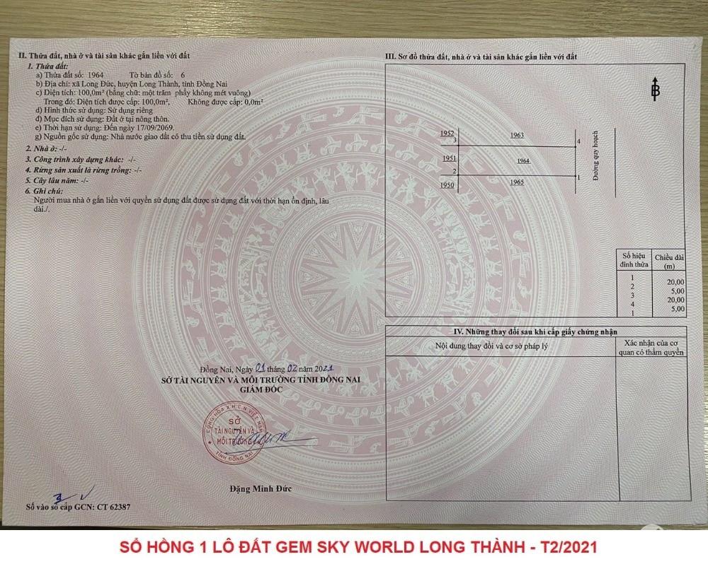 Chỉ 850TR sở hữu đất nền SHR TP Sân bay Long Thành