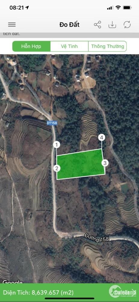 bán đất TL158 thôn mò phú chải diện tích 5000m2