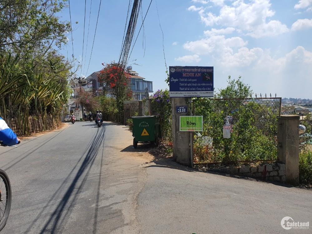 Bán đất xây dựng mặt tiền đường lớn gần trung tâm đà lạt