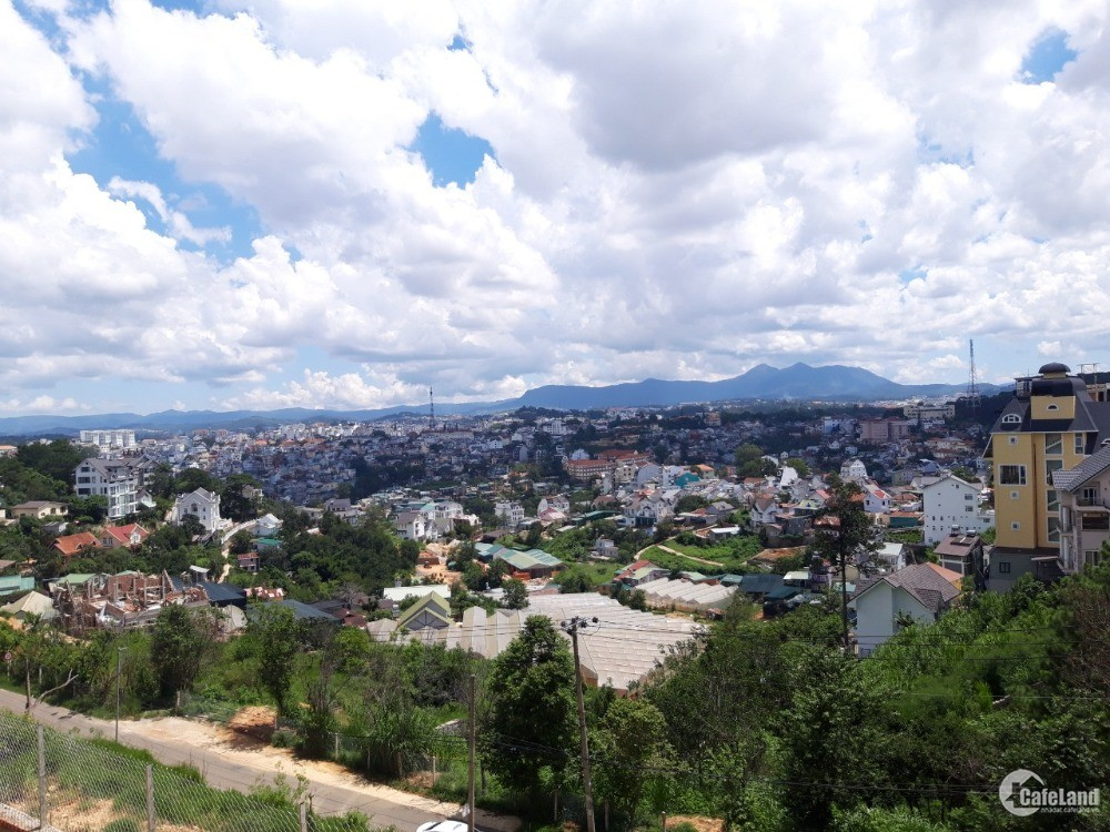 Bán lô đất biệt thự trên đỉnh đồi đống đa, view thành phố, phường 3 đà lạt