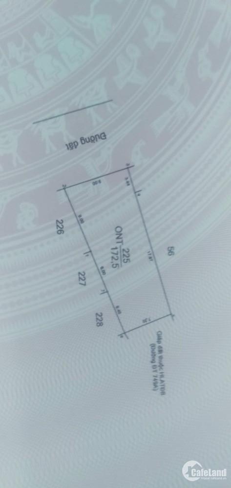 Bán đất mặt tiền DT749 xã Long Hòa, Dầu Tiếng, Bình Dương. Diện tích 172m2