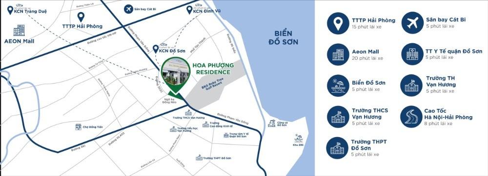 Mở bán đợt 1 đất nền Hoa Phượng Residence Đối diện Sân Golf BRG Ruby, SĐCC