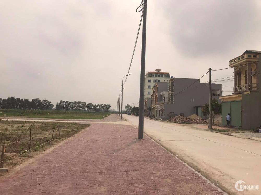 Bán đất đầu giá xã Nhật Tân, Gia Lộc, Hải Dương, 100m2, mt 5m, vỉa hè 5m giá cực