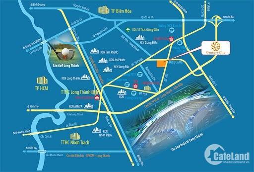 Suất ngoại giao giá rẻ dự án century city ưu đãi 20 chỉ vàng, mặt tiền DT 769
