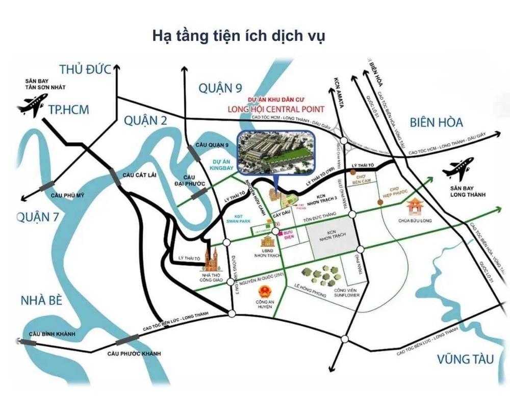 đất mặt tiền đường lý thái tổ Long Tân bán kính 2km đầy đủ tiện ích