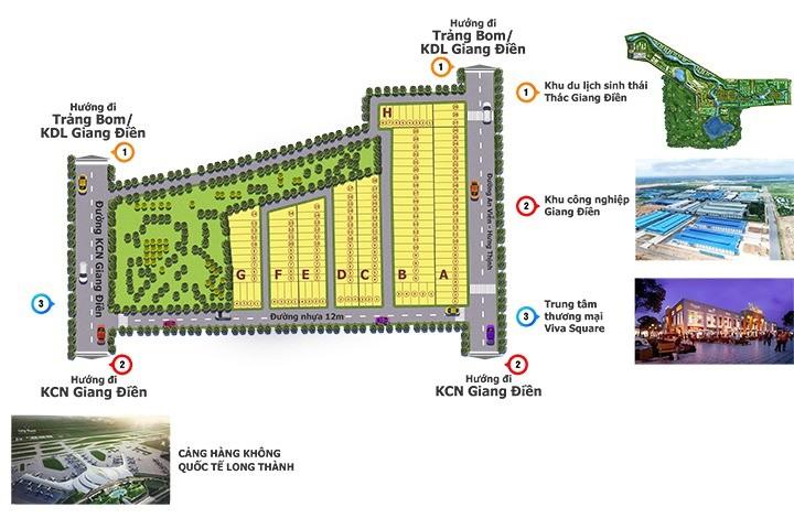 Mở bán dự Án F1 ngày KCN Giang Điền, SHR 100%